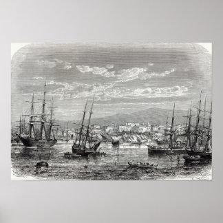 Athens: general view of the Piraeus, Poster