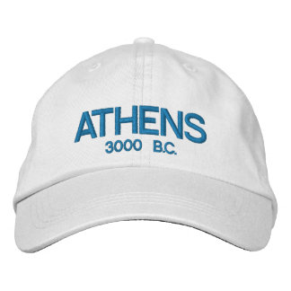 Athens Greece Personalized Adjustable Hat Embroidered Hat