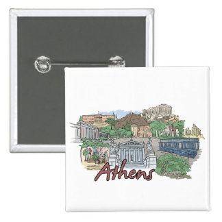 Athens - Greece.png 15 Cm Square Badge