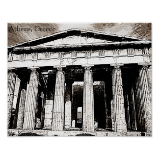 Athens, Greece - Temple of Hephaestus Poster