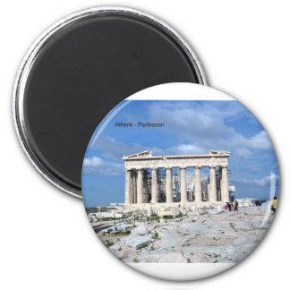 Athens Parthenon 6 Cm Round Magnet