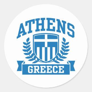 Athens Round Sticker