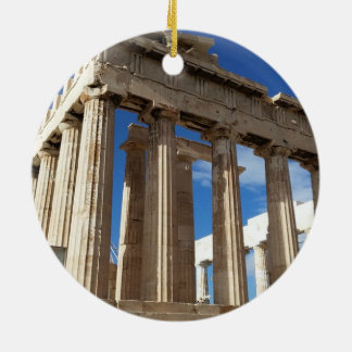 Athens Scenic Christmas Circle Ornament