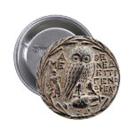 Athens Silver Tetradrachm 6 Cm Round Badge