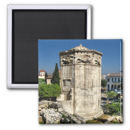 Athens tower square magnet