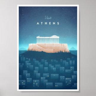 Athens Vintage Travel Poster