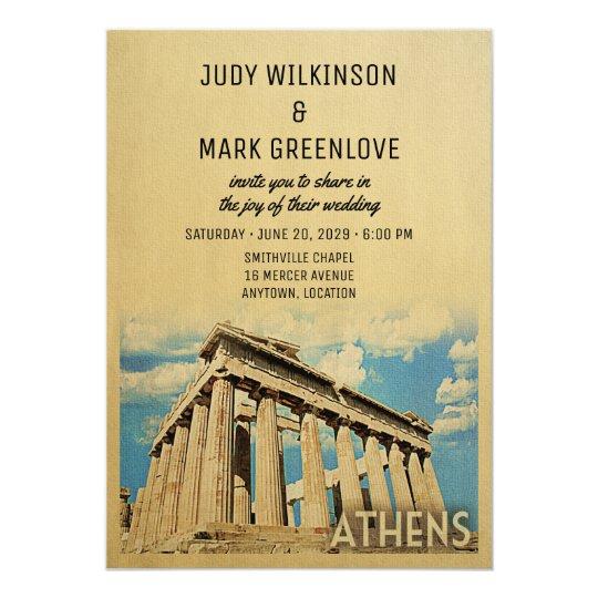 Athens Wedding Invitation Greece Greek
