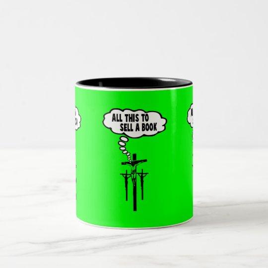 Athiest bible Two-Tone coffee mug