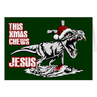 Athiest T Rex Xmas Card