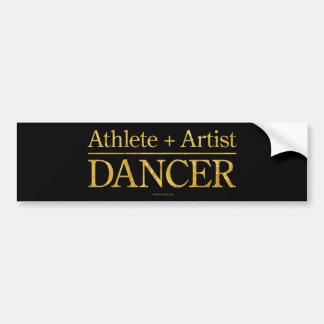 Athlete + Artist = Dancer Bumper Sticker