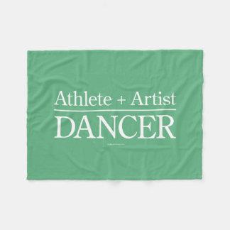 Athlete + Artist = Dancer Fleece Blanket
