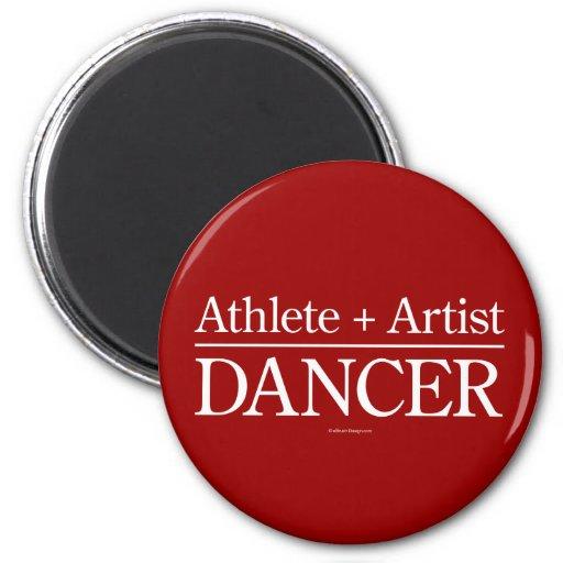 Athlete + Artist = Dancer Fridge Magnets