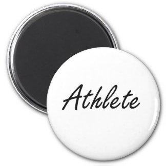 Athlete Artistic Job Design 2 Inch Round Magnet