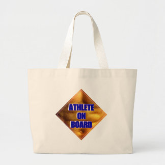 Athlete on Board Tote Bags