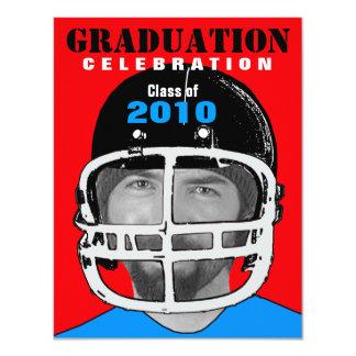 Athlete Photo Insert Graduation Party A Invitation