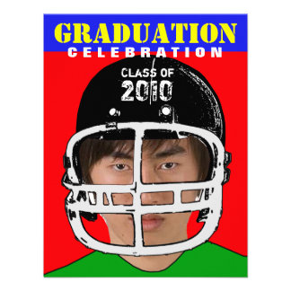 Athlete Photo Insert Graduation Party B Invitation
