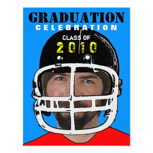 Athlete Photo Insert Graduation Party C Invitation
