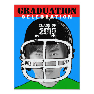 Athlete Photo Insert Graduation Party D Invitation