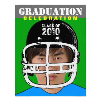Athlete Photo Insert Graduation Party F Invitation