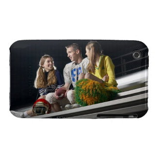 Athletes on bleachers iPhone 3 Case-Mate cases