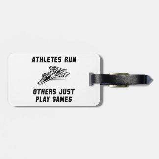 Athletes Run Bag Tag