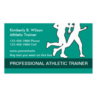 Athletic Fitness Trainer Pack Of Standard Business Cards
