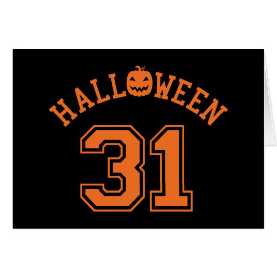 Athletic Halloween 31 Card