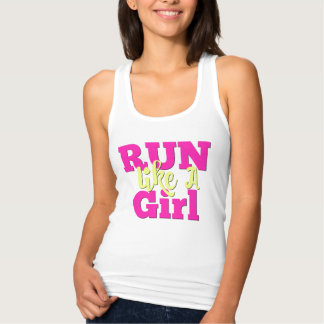 Athletic Logo Tank Top - Run Like A Girl