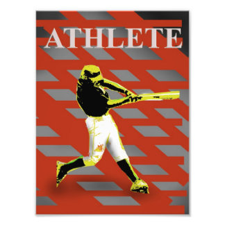 athletic red art photo