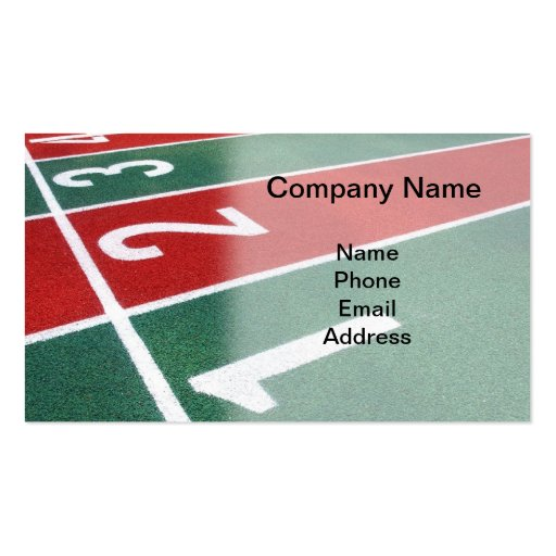Athletic Running Track Markings Business Card Template