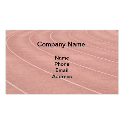 Athletic Running Track Markings Business Card Templates