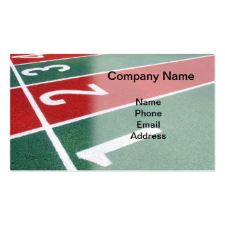 Athletic Running Track Markings Pack Of Standard Business Cards