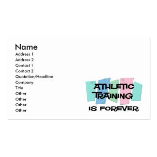 Athletic Training Is Forever Business Card Templates
