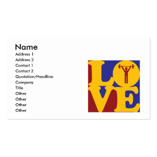 Athletic Training Love Business Card Templates