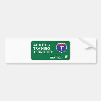 Athletic Training Next Exit Bumper Sticker