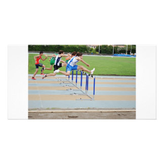 ATHLETICS JUMPS PERSONALISED PHOTO CARD