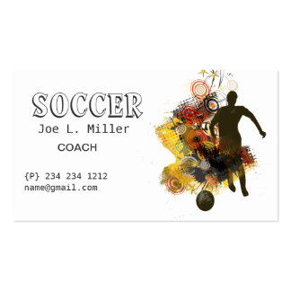 Athletics Soccer Player Running Practicing Skills Pack Of Standard Business Cards