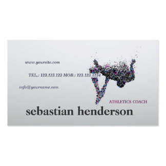 Athletics Trainer Coach Athlete Sport Card Business Cards