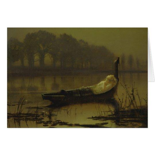 Atkinson Grimshaw Lady of Shalott CC0536 Card
