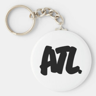 ATL Letters Basic Round Button Key Ring