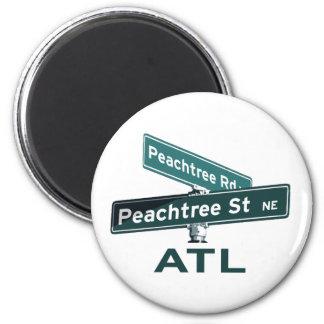 ATL Peachtree Signs Refrigerator Magnet