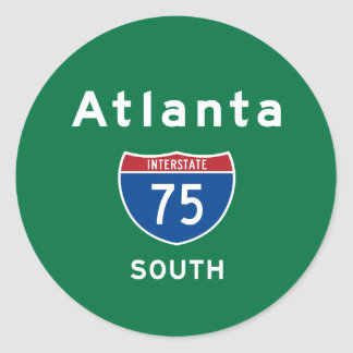 Atlanta 75 classic round sticker