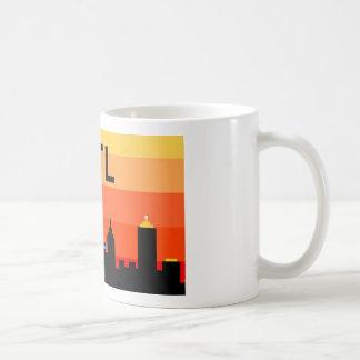 Atlanta 8-Bit Skyline ATL Basic White Mug