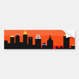Atlanta 8-Bit Skyline ATL Bumper Stickers