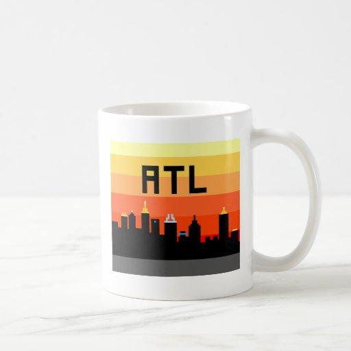 Atlanta 8-Bit Skyline ATL Coffee Mugs