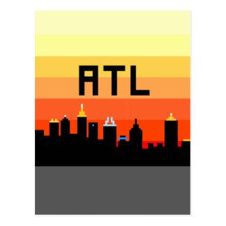 Atlanta 8-Bit Skyline ATL Post Cards