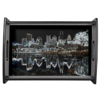 Atlanta Aglow City Skyline Serving Tray