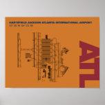 Atlanta Airport (ATL) Diagram Poster