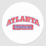 Atlanta Athletic Round Stickers
