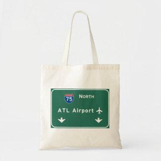 Atlanta ATL Airport I-75 N Interstate Georgia - Budget Tote Bag